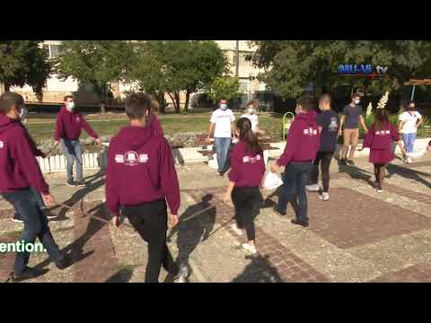 Students at the Medical University of Varna create a World Stroke Day dance chain