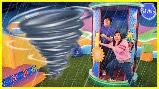 Tornado on Ryan's Mystery Playdate Mystery Wheel Challenge!