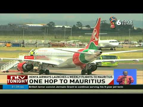 Kenya Airways launches 4 weekly flights to Mauritius