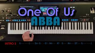 One Of Us - Abba, Cover, eingespielt mit titelbezogenem Style auf Yamaha Genos