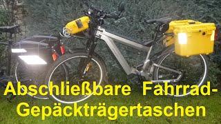 Abschließbare Fahrradtaschen bzw. abschließbare Gepäckträgertaschen