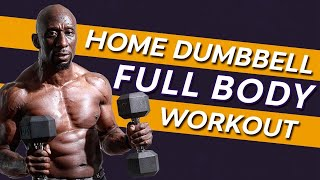 Home Dumbbell Full Body Workout - Superset Circuit