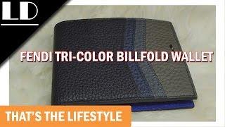 Fendi tri-color billfold wallet