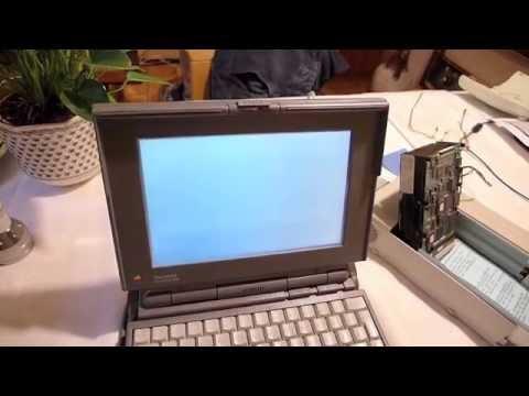 altes Powerbook 145B und uralte SCSI Festplatte Toshiba