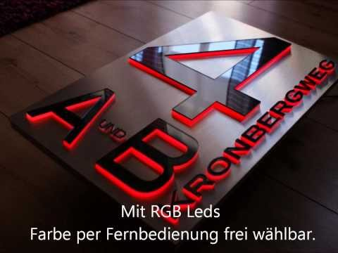 Led Hausnummer in 3D Design Hausnummer-Berlin.de by Zabel LED Design