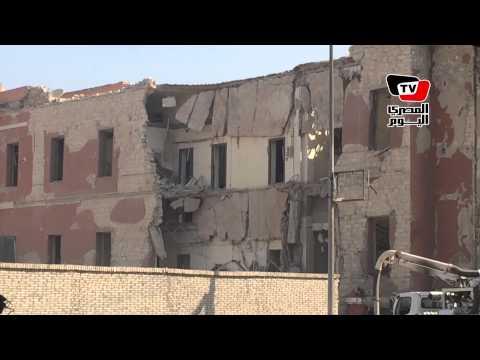 آثار انفجار القنصلية الإيطالية بشارع الجلاء