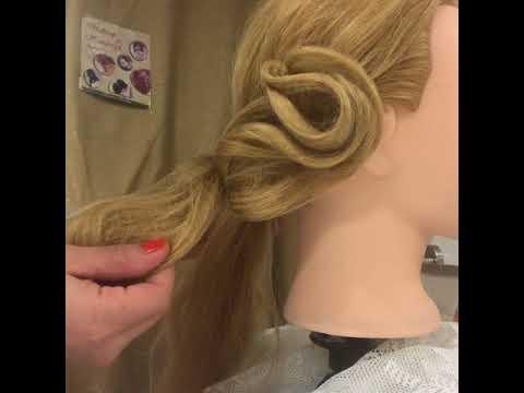 Elegante Frisur mit Haarnetz, File ile basit ve şık Topuz yapımı, Hairstyle with hairnet simply
