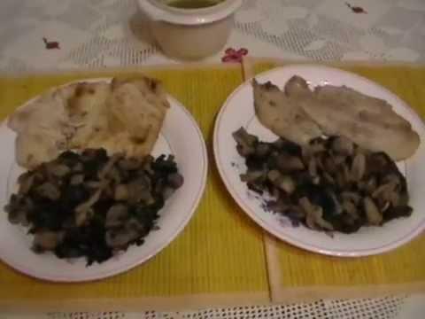 Receta Espinacas con Champiñones