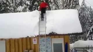 Как чистить крышу от снега Как чистить снег с крыши
