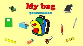 English for kids. School. My bag. Английский для детей. Школа. Мой портфель.