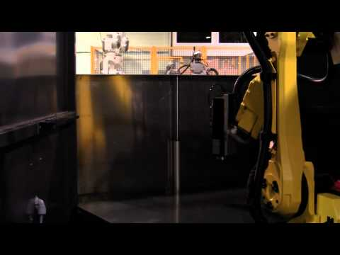 Dual-Station RW1000 Workcell with a FANUC M-16iB/20 Industrial Robot Arm