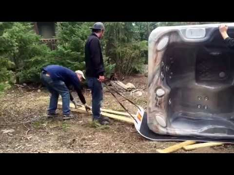 How to Move a Hot Tub - Using Spa Sled