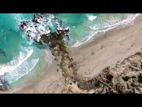 Pennington Bay aerial of waves