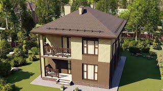 Проект дома 168-B, Площадь дома: 168 м2, Размер дома:  10,8x9 м