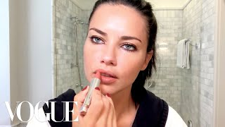 Adriana Lima Gets Ready for a Night Out | Beauty Secrets | Vogue - dooclip.me