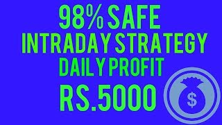 Profit daily RS 5000 intraday strategy    Day trading in india    best intraday trading strategy    