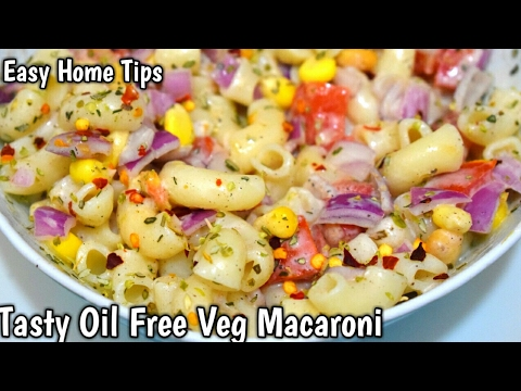 Tasty Oil Free Veg Macaroni Recipe | Macaroni Recipe In Hindi Breakfast Recipes Indian