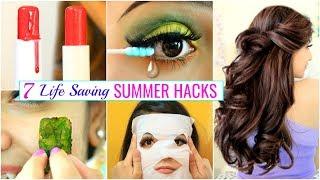 7 LIFE Saving SUMMER HACKS for Every TEENAGERS ..   #Haircare #Skincare #Beauty #Anaysa