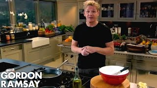 Gordon Ramsay Demonstrates How To Make A Chocolate Mint Cake