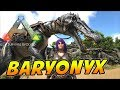 Baryonyx Tame New Royalty Hairstyle ARK Survival Evolved Ragnarok Map Ep 6