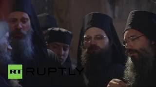 Владимир Путин посещает святую гору Афон