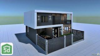 Modern House Exterior Design In Planner 5D   Ayuh