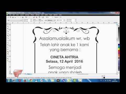 Video Belajar corel draw #cetak undangan mini