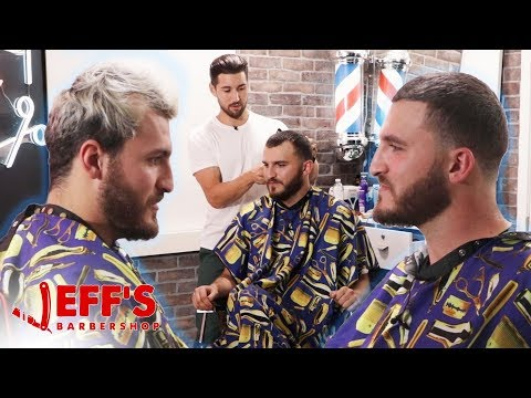 HOW TO FIX A RECEDING HAIRLINE | Jeff's Barbershop ft. Zane Hijazi