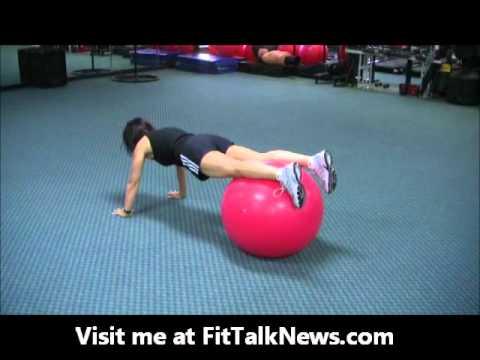 Stability Ball Knee Tuck