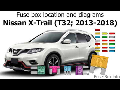 fuse box location and diagrams: nissan x-trail (t32
