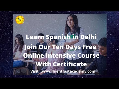 Free Intensive Online Spanish Course