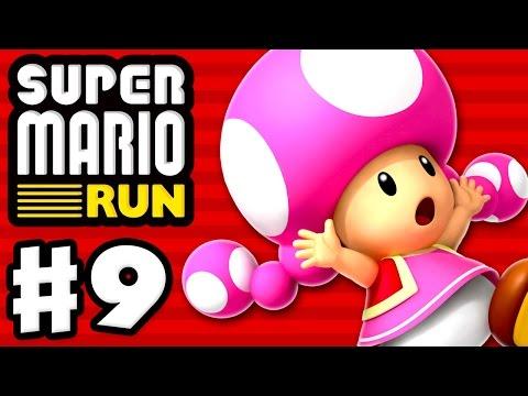 Super Mario Run Walkthrough - Part 7 - Peach ! World 1 All Purple