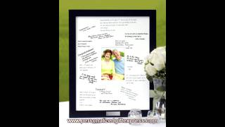 Signature Picture Frame - Another Great Guest Book Alternative