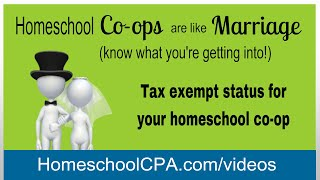 Tax exempt status for homeschool co-ops