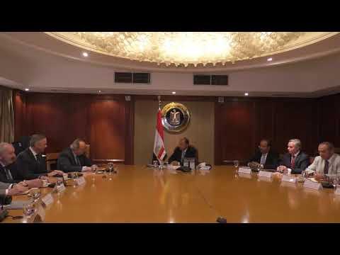 إجتماع الوزير / عمرو نصار مع رئيس هيئة معارض دوسلدورف الالمانية