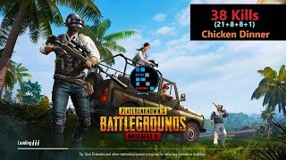 "[Hindi] PUBG Mobile | ""38 Kills"" Amazing match With Chicken Dinner"