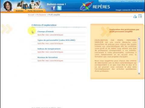 REPÈRES | Les explorations par profil personnel