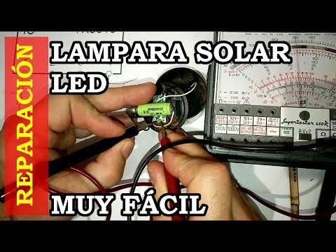 Reparar lampara LED solar de jardin