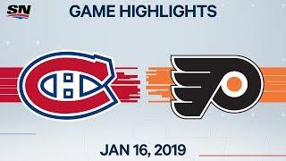 NHL Highlights | Canadiens vs. Flyers – Jan. 16, 2020