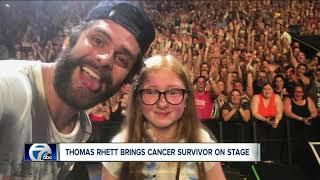 Thomas Rhett Brings 11 Year Old Cancer Survivor On Stage At Darien Lake