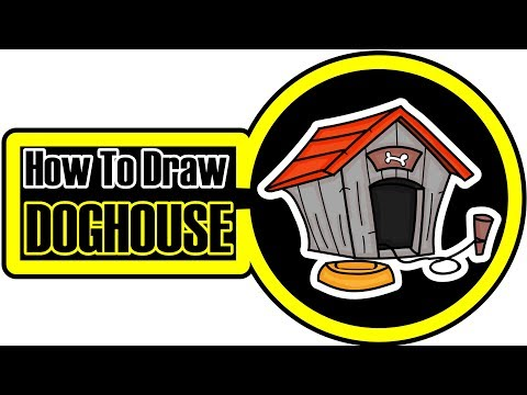 How To Draw A Dog House Cartoon Step By Step Coloring Pages For Kids