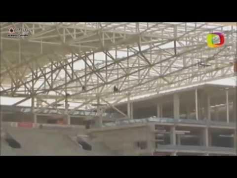 Corinthians usa alpinistas para economizar em estádio