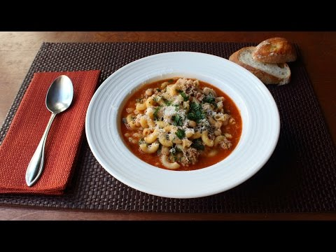 Sausage Pasta Fazool (Pasta e Fagioli Recipe) - How to Make Pasta Fazool