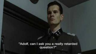 Hitler is asked to spell Mustache