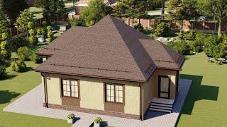 Проект дома 066-А, Площадь дома: 66 м2, Размер дома:  9,1х9,3 м
