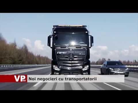 Noi negocieri cu transportatorii