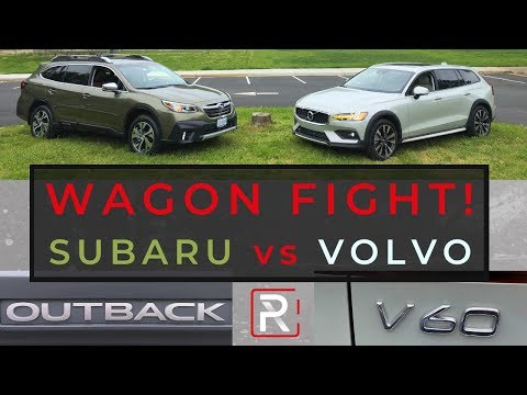 2020 Volvo V60 Cross Country Vs. Subaru Outback XT – Battle of The Lifted Wagons