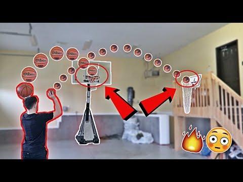 IMPOSSIBLE INDOOR MINI BASKETBALL TRICK SHOT CHALLENGE!! (видео)