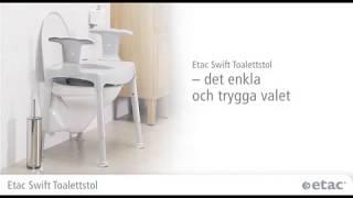 Toaletní a sprchová židle Etac SWIFT KOMMOD - Etac Swift video