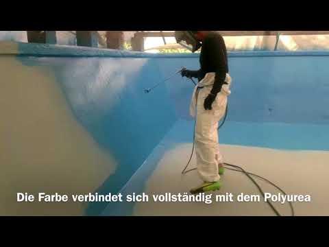 Pool Beschichtung mit Polyurea II